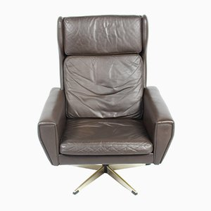 Leather Swivel Chair by Georg Thams, 1970s