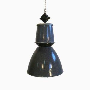Lámpara colgante de fábrica en gris grande de Elektrosvit, años 50