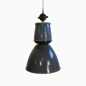 Large Grey Factory Pendant Lamp from Elektrosvit, 1950s