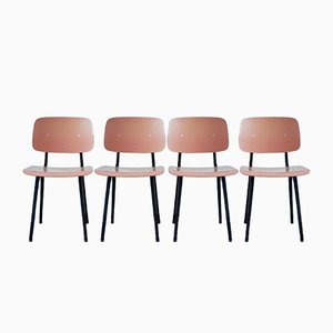 Revolt Dining Chairs by Friso Kramer for Ahrend De Cirkel, 1950s, Set of 4