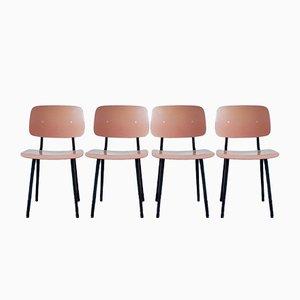 Revolt Esszimmerstühle von Friso Kramer für Ahrend De Cirkel, 1950er, 4er Set