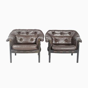 Leather Armchairs from Coja, 1960s, Set of 2