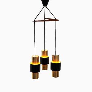 Lámparas colgantes Etna de Johannes Hammerborg para Fog & Mørup, años 60. Juego de 3