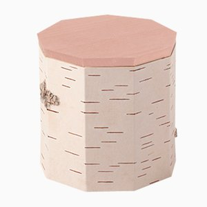 Plain Tuesa Container with Beige Lid by Anastasiya Koshcheeva for Moya