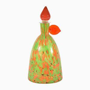 Bottiglia vintage in vetro di Murano di Carlo Moretti