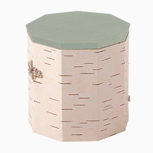 Plain Tuesa Container with Mint Lid by Anastasiya Koshcheeva for Moya
