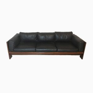 Vintage Italian Leather 3-Seater Sofa by Afra Scarpa, 1970s