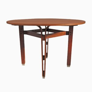 Runder Vintage Holztisch von Ico & Luisa Parisi