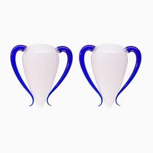 Applique vintage in vetro di Murano di Barovier & Toso, set di 2
