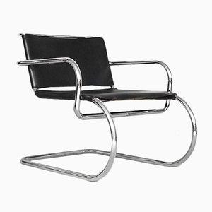 Deutscher Stuhl mit Ledersitz von Franco Albini für Tecta, 1950er