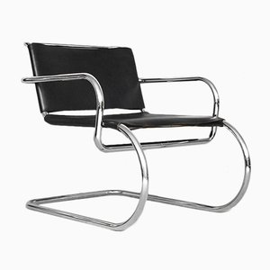 German Leather Chair by Franco Albini for Tecta, 1950s