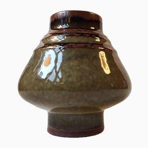 Skandinavische Mid-Century Keramik Vase von Olle Alberius für Rörstrand