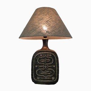 Große Brutalistische Keramik Lampe von Emiel Laskaris, 1960er