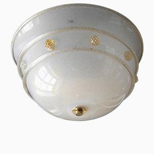 Lámpara de techo de vidrio de Barovier & Toso, años 70