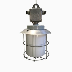 Industrielle Vintage Aluminium Lampe, 1970er