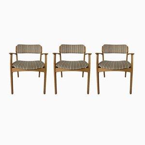Dänischer Stühle aus Eichenholz von Erik Buch für OD Møbler, 3er Set