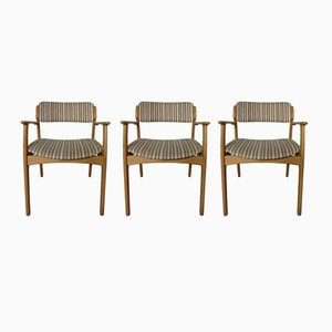 Danish Oak Chairs by Erik Buch for OD Møbler, Set of 3