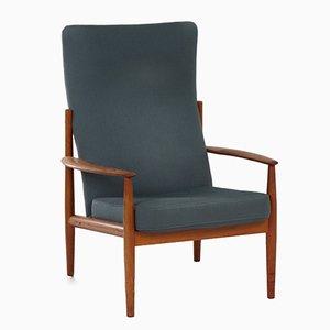 Chaise à Dossier Haut par Grete Jalk pour France & Søn, Danemark, 1960s