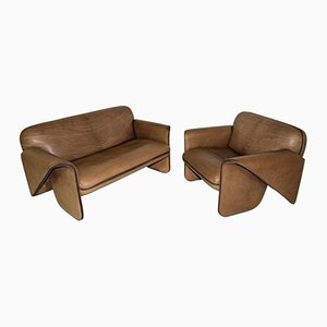 Vintage Swiss DS 125 Sofa & Armchair by Gerd Lange for de Sede, 1978