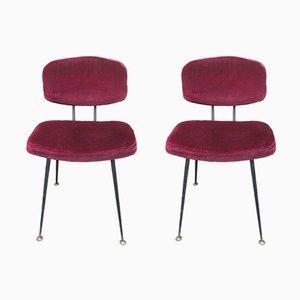 Französische Mid-Century Stühle, 1960er, 2er Set