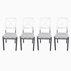 Vintage Esszimmerstühle von Belgo Chrom, 4er Set