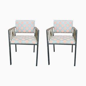 Vintage Esszimmerstühle von Belgo Chrom, 2er Set
