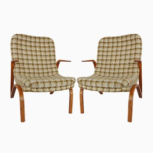 Konkav Easy Chairs by Paul Bode for Federholz-Gesellschaft OHG, 1950s, Set of 2