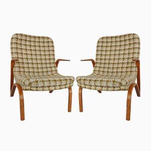 Konkav Sessel von Paul Bode für Federholz-Gesellschaft OHG, 1950er, 2er Set