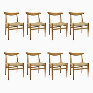 W2 Chairs by Hans J. Wegner for C.M. Madsen, 1960s, Set of 8