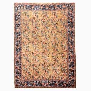 Antiker Teppich mit floralem Design, 1900er