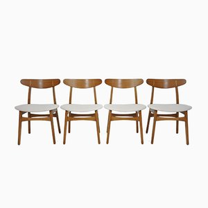 Vintage CH30 Stühle von Hans J. Wegner für Carl Hansen, 1950er, 4er Set