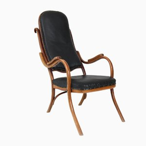 Art Nouveau Beech Bentwood Lounge Chair from Thonet, 1890s