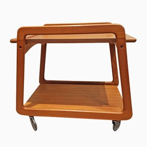 Mid-Century Teak Serving Trolley from Sika Møbler