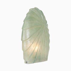 Lampada da tavolo in fibra di vetro verde acqua, anni '30