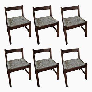 Torbecchia Stühle von Giovanni Michelucci für Poltronova, 1960er, 6er Set