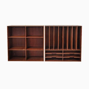 Vintage Bookcases by Mogens Koch for Rud. Rasmussen, 1950s, Set of 2