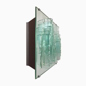 Vintage Glass Mirror Wall Light by Willem Van Oyen for Raak, 1980s