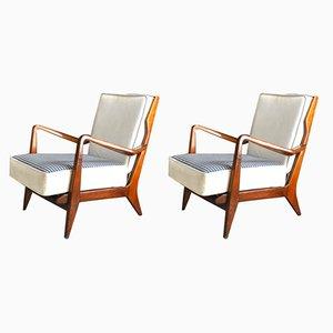 Vintage Italian 516 Armchairs by Gio Ponti, 1958