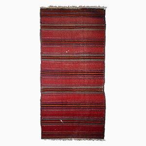 Gestreifter orientalischer Vintage Kelim Teppich, 1940er