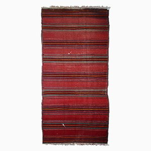 Vintage Middle Eastern Striped Kilim Rug, 1940s