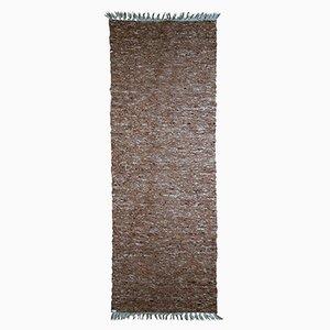 Alfombra de pasillo india vintage de lana hecha a mano, años 80