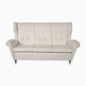 Italienisches Vintage Sofa mit Messingbeinen, 1970er