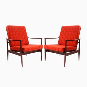 Vintage Czech Lounge Chairs, 1970s, Set of 2