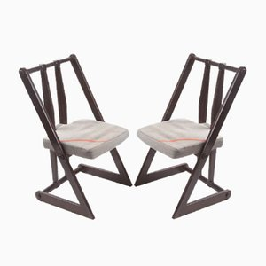 Chaise d'Appoint Vintage, République Tchèque, 1970s, Set de 2