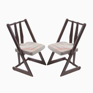 Tschechische Vintage Stühle, 1970er, 2er Set