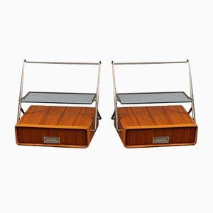 Tables de Chevet Murales par Silvio Cavatorta, 1950s, Set de 2