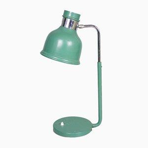 Lámpara de mesa de trabajo industrial vintage en verde, años 70