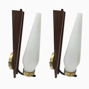 Mid-Century Italian Wall Sconces, Set of 2