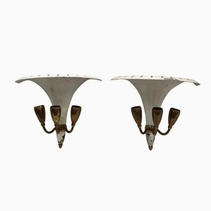 Mid-Century Modern Wall Sconces, 1950s, Set of 2