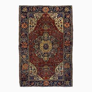 Alfombra de Oriente Medio antigua, década de 1880